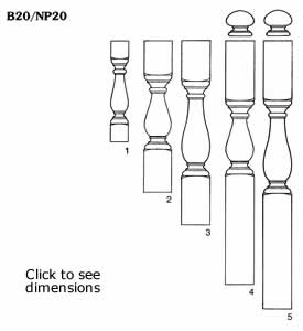 B20/NP20 balusters and newels