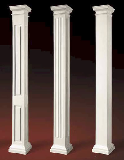 Image gallery support columns for Decorative support columns